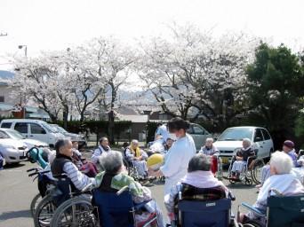 湯野温泉病院お花見